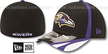 Ravens 2014 NFL TRAINING FLEX Black Hat by New Era