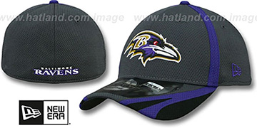 Ravens 2014 NFL TRAINING FLEX Graphite Hat by New Era