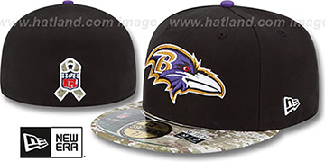 Ravens 2014 SALUTE-TO-SERVICE Black-Desert Fitted Hat by New Era