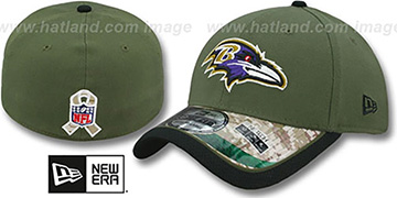 Ravens '2014 SALUTE-TO-SERVICE FLEX' Army Hat by New Era