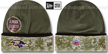 Ravens '2014 SALUTE-TO-SERVICE' Knit Beanie Hat by New Era