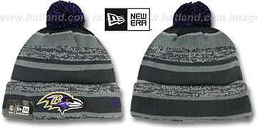 Ravens '2014 STADIUM' Grey-Grey Knit Beanie Hat by New Era