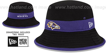 Ravens 2015 NFL TRAINING BUCKET Black Hat by New Era