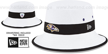 Ravens 2015 NFL TRAINING BUCKET White Hat by New Era