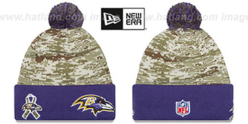 Ravens 2015 SALUTE-TO-SERVICE Knit Beanie Hat by New Era
