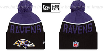 Ravens '2015 STADIUM' Black-Purple Knit Beanie Hat by New Era