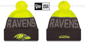 Ravens '2015 STADIUM' Charcoal-Yellow Knit Beanie Hat by New Era