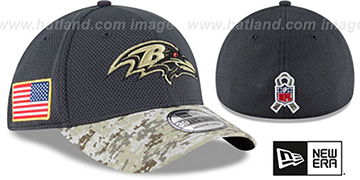 Ravens '2016 SALUTE-TO-SERVICE FLEX' Grey-Desert Hat by New Era