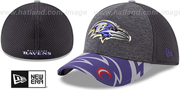 Ravens 2017 NFL ONSTAGE FLEX Charcoal Hat by New Era