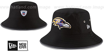 Ravens '2017 NFL TRAINING BUCKET' Black Hat by New Era
