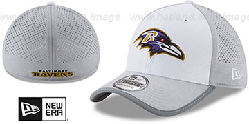 Ravens 2017 NFL TRAINING FLEX White-Grey Hat by New Era