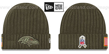 Ravens '2017 SALUTE-TO-SERVICE' Knit Beanie Hat by New Era