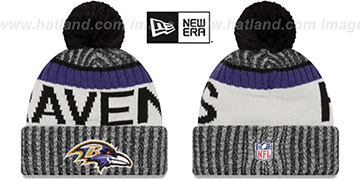 Ravens 2017 STADIUM BEANIE Black Knit Hat by New Era