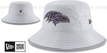 Ravens '2018 NFL TRAINING BUCKET' Grey Hat by New Era