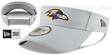 Ravens 2018 NFL TRAINING VISOR Grey by New Era