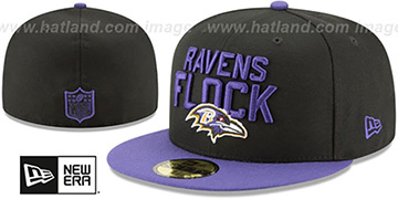 Ravens 2018 SPOTLIGHT Black-Purple Fitted Hat by New Era