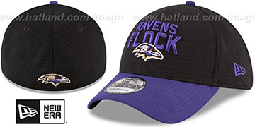 Ravens 2018 SPOTLIGHT FLEX Black-Purple Hat by New Era