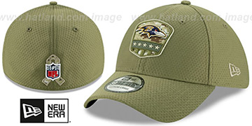 Ravens 2019 SALUTE-TO-SERVICE FLEX Olive Hat by New Era