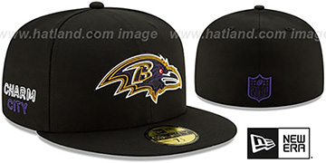 Ravens 2020 NFL VIRTUAL DRAFT Black Fitted Hat by New Era