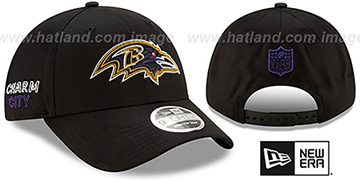 Ravens 2020 NFL VIRTUAL DRAFT STRETCH-SNAP Black Hat by New Era