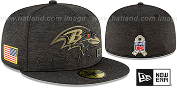 Ravens '2020 SALUTE-TO-SERVICE' ST Black Fitted Hat by New Era