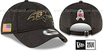 Ravens 2020 SALUTE-TO-SERVICE STRAPBACK ST Black Hat by New Era