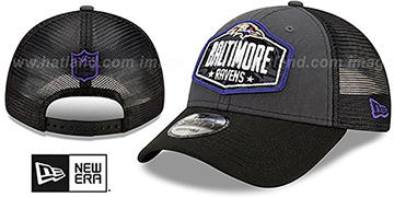 Ravens 2021 NFL TRUCKER DRAFT 940 SNAP Hat by New Era