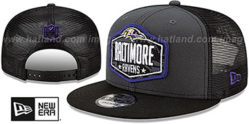 Ravens 2021 NFL TRUCKER DRAFT SNAPBACK Hat by New Era