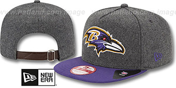 Ravens 2T MELTON A-FRAME STRAPBACK Hat by New Era