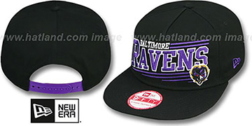 Ravens 'ANGULAR A-FRAME SNAPBACK' Black Hat by New Era