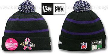 Ravens BCA CRUCIAL CATCH Knit Beanie Hat by New Era