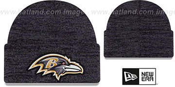Ravens 'BEVEL' Purple-Black Knit Beanie Hat by New Era