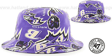 Ravens BRAVADO BUCKET Hat by Twins 47 Brand