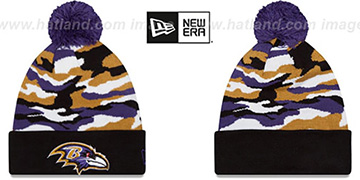 Ravens CAMO CAPTIVATE Knit Beanie Hat by New Era