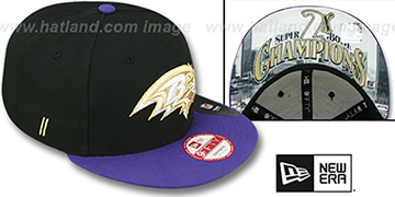 Ravens CHAMPS-HASH SNAPBACK Black-Purple Hat by New Era