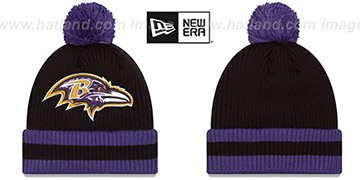 Ravens CHILLER FILLER BEANIE Black-Purple by New Era