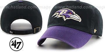 Ravens 'CLEAN-UP STRAPBACK' Black-Purple Hat by Twins 47 Brand