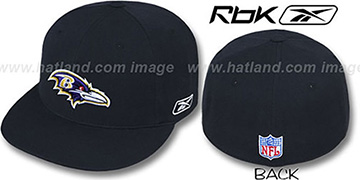 Ravens 'COACHES' Black Fitted Hat by Reebok