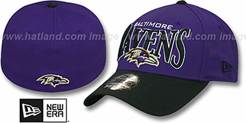 Ravens 'COIN TOSS FLEX' Purple-Black Hat by New Era
