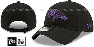 Ravens CORE-CLASSIC STRAPBACK Black-Purple Hat by New Era