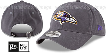 Ravens 'CORE-CLASSIC STRAPBACK' Charcoal Hat by New Era