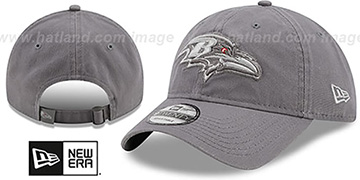 Ravens 'CORE-CLASSIC STRAPBACK' Grey-Grey Hat by New Era