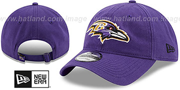 Ravens 'CORE-CLASSIC STRAPBACK' Purple Hat by New Era