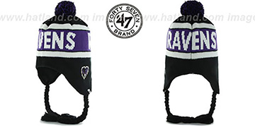 Ravens CRANBROOK Knit Beanie Hat by Twins 47 Brand