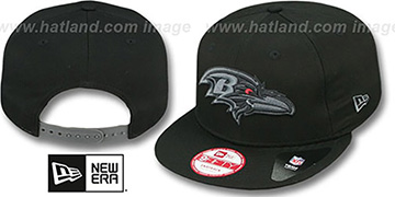 Ravens 'FADEOUT SNAPBACK' Black-Grey Hat by New Era