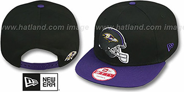 Ravens 'GOAL LINE SNAPBACK' Black-Purple Adjustable Hat by New Era