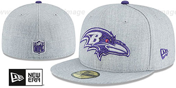 Ravens 'HEATHER TEAM-BASIC' Light Grey Fitted Hat by New Era