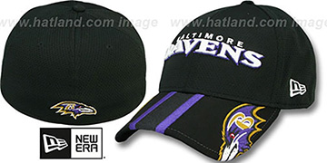 Ravens 'HELMET HIT VISOR' Flex Hat by New Era