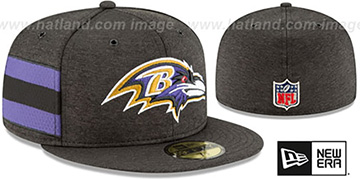 Ravens HOME ONFIELD STADIUM Black Fitted Hat by New Era