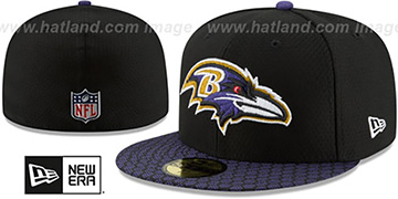 Ravens 'HONEYCOMB STADIUM' Black Fitted Hat by New Era